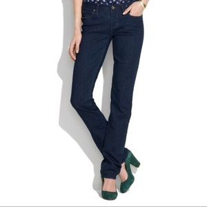 Madewell Rail Straight Leg Jeans Dark Blue 29X34